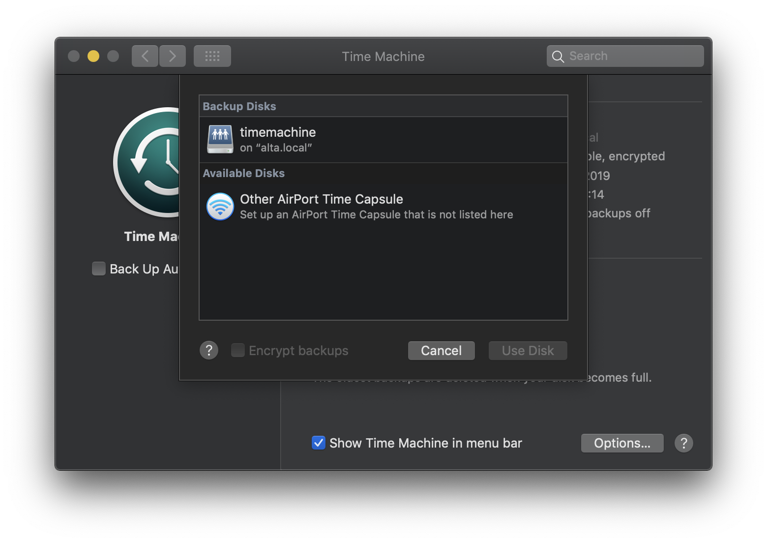 Backup a Mac to a Linux server over a network using Time